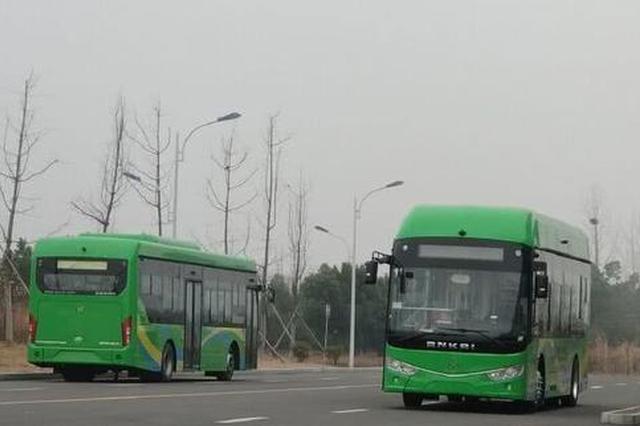 安徽首发 六安氢能源公交车上路了