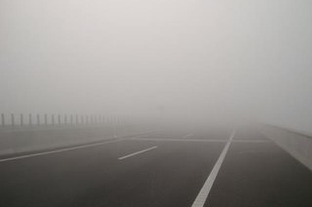 受大雾影响 天津河北安徽河南54条高速55路段道路封闭