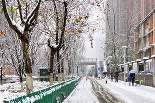 安徽江北大部分地区出现降雪 29日后全省平均气温回升