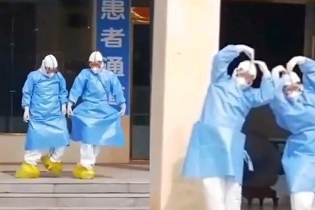 安徽医护跳天鹅舞送6名治愈病人出院