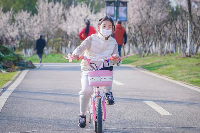 合肥:天气晴好春意浓 四季花海游园乐