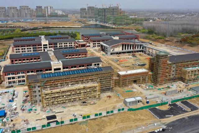 合肥市公共卫生管理中心部分楼体封顶