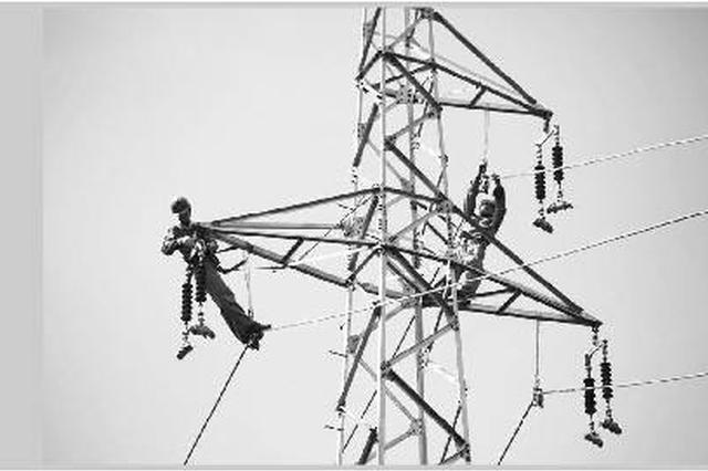 安徽首个复工的500千伏输电线路工程2标段贯通