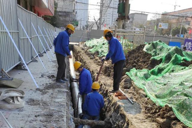 合肥长江东路开始改造地下管线