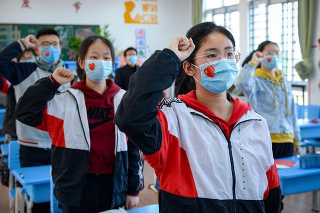 合肥初三学生返校