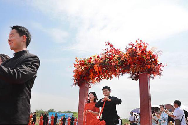 合肥52对来自抗疫一线的新婚夫妻举办集体婚礼