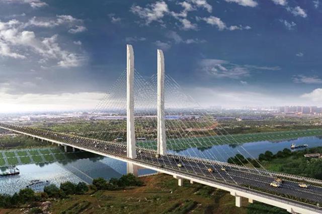 引江济淮工程最新消息:桥的双子塔柱已拔地而起