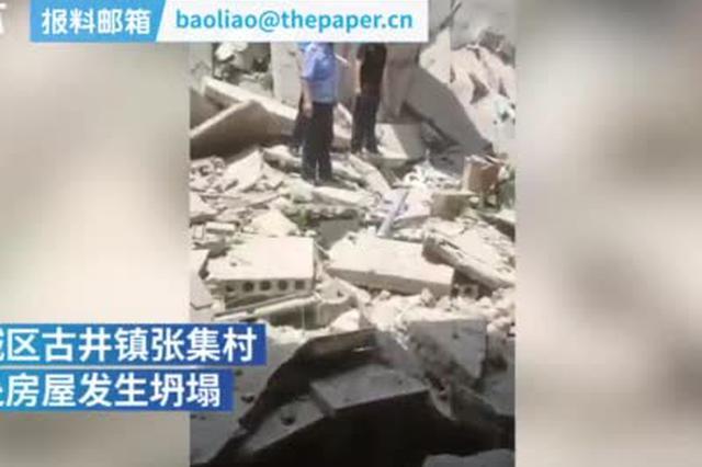 安徽亳州一房屋顶全部坍塌 5人被送医
