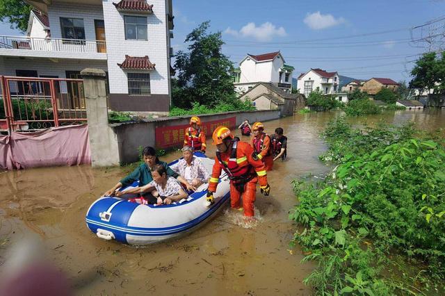 救援正在进行!河水倒灌 芜湖繁昌县两自然村被淹