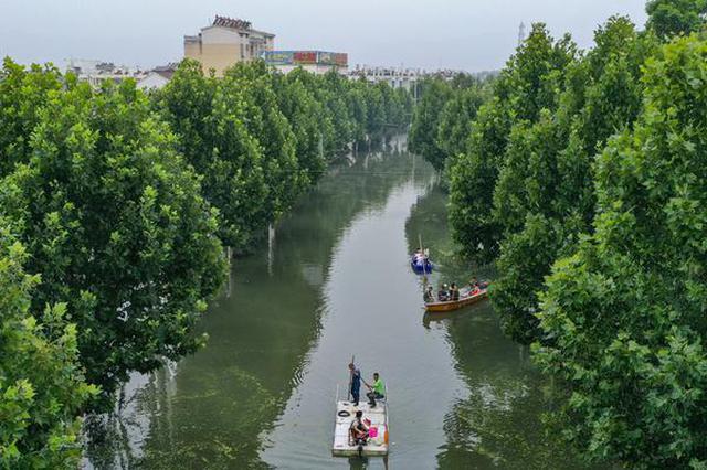 安徽柘皋:千年老街在洪水中坚强自救