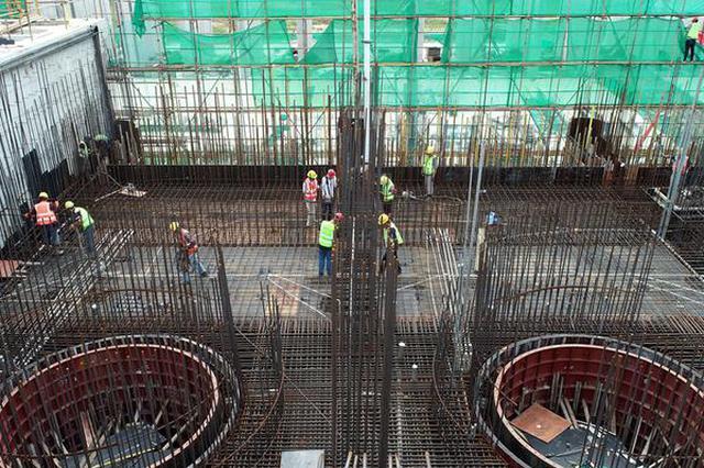 安徽肥西:引江济淮派河口泵站全面复工