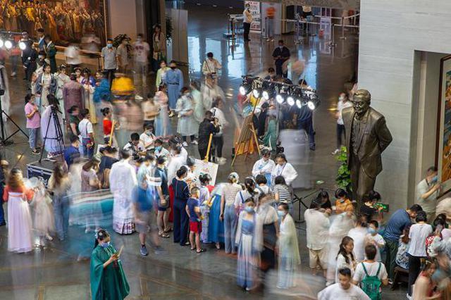 安徽博物院举办七夕汉服之夜活动