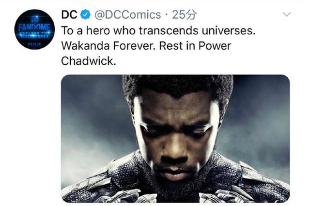 漫威回应黑豹男主去世:我们将铭记你的传奇