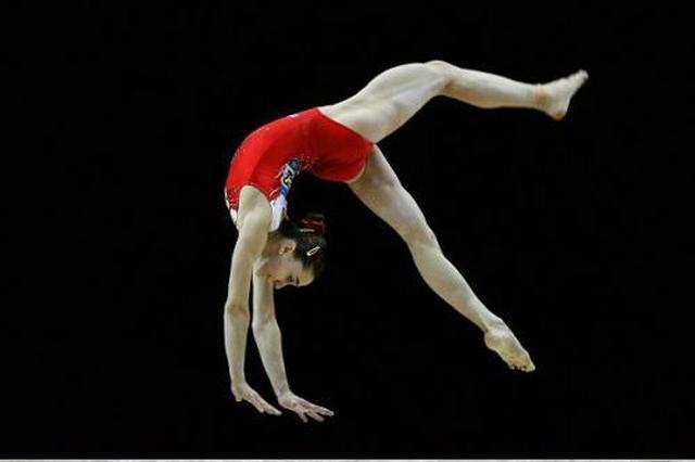 安徽省女子体操队举办赛前测试赛