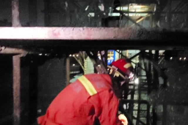 女子被困50米高塔吊 合肥消防紧急救助