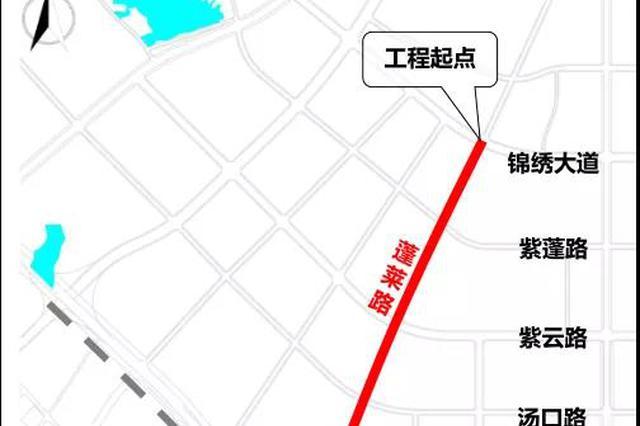 合肥蓬莱路(锦绣大道-卫星路)将进行快速化改造