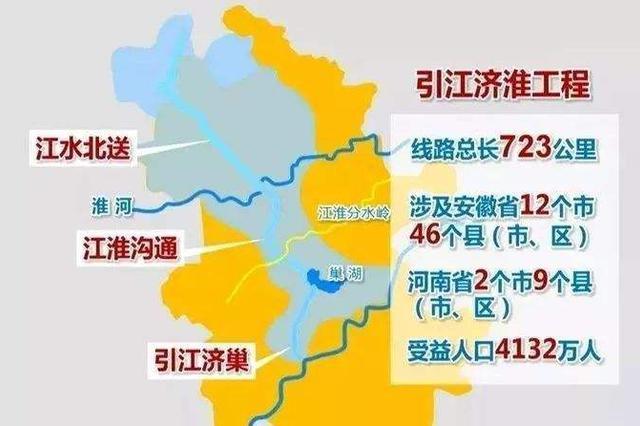"""最大跨度""""水桥""""合龙 引江济淮工程将现""""河上有河"""""""