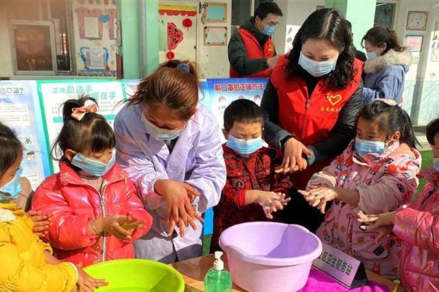 基层红领工作站开展疫情防控进校园活动
