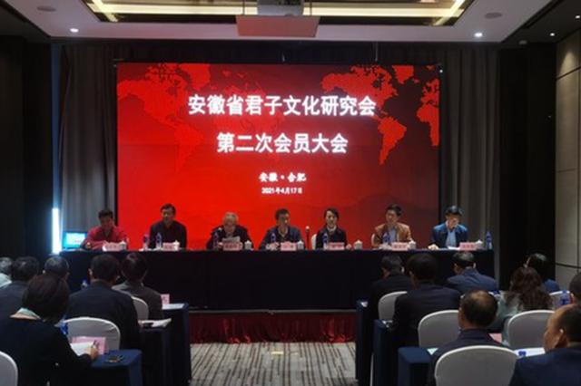 安徽省君子文化研究会第二次会员大会召开