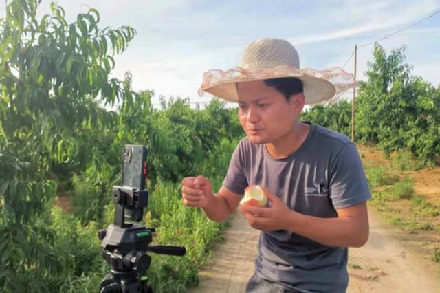 公益直播进果园 这户残疾果农种的桃子有了好销路