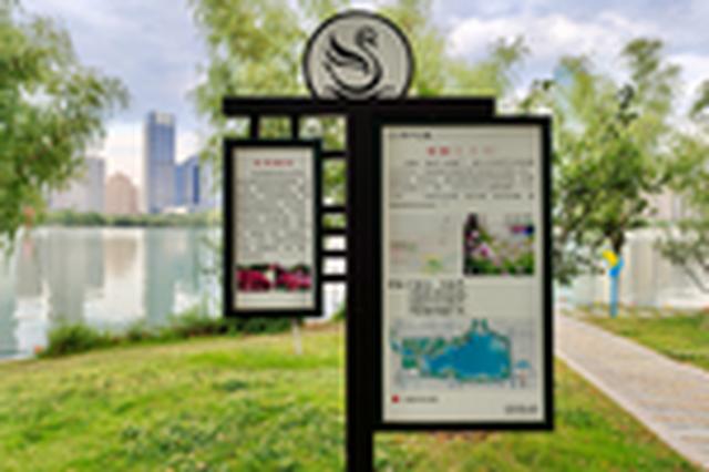 合肥天鹅湖旁公共展示牌错字多 市民盼望速改正