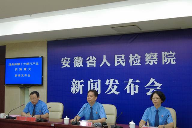 安徽省检察机关服务保障新兴产业发展