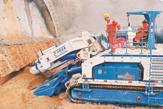 巢马城际铁路新大金山隧道正式进洞施工