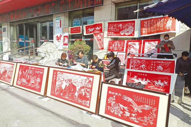 """潘集区:""""三社联动""""剪纸义卖促增收"""