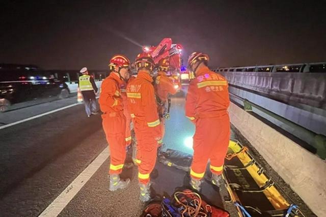 突发!合肥一男子从绕城高速桥坠落