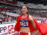 安徽运动员王春雨勇夺雅加达亚运会田径女子800米冠军
