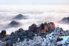 黄山一夜飘雪 天地至此留白
