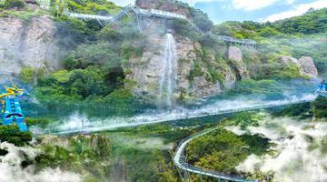 马仁奇峰面向女性玻璃桥+栈道免费!