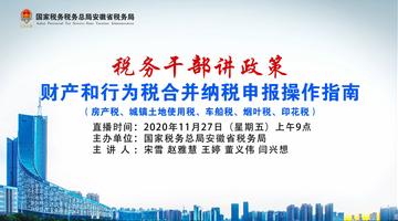 财产和行为税合并纳税申报操作指南