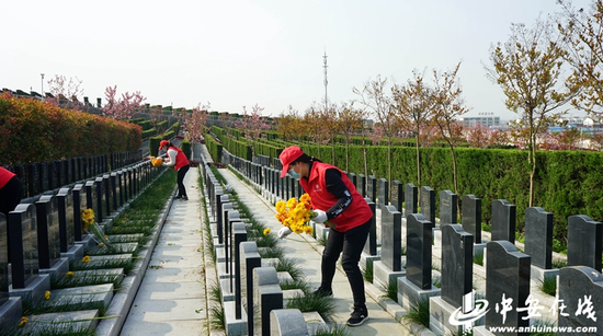 献花代祭是一种文明绿色祭祀新风尚