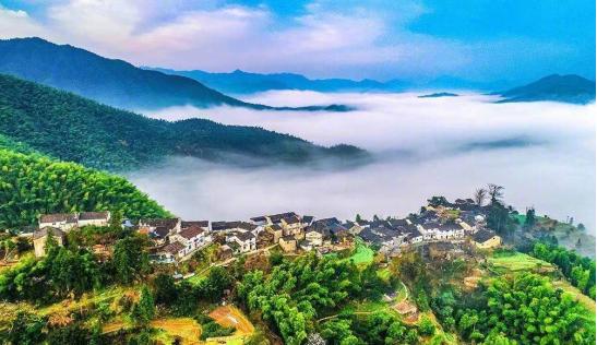 休宁县木梨硔全景(图源:摄影师李学梅)