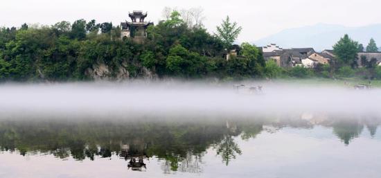泾县桃花潭景区 怀仙阁(图源:安徽省文化和旅游厅)