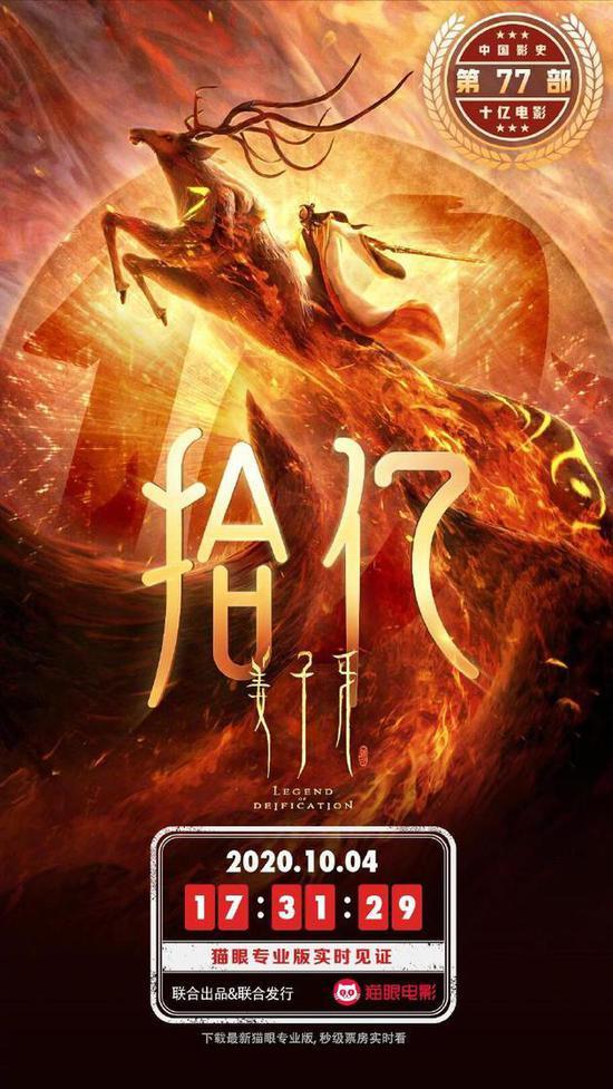 《姜子牙》成中国最快破10亿动画电影