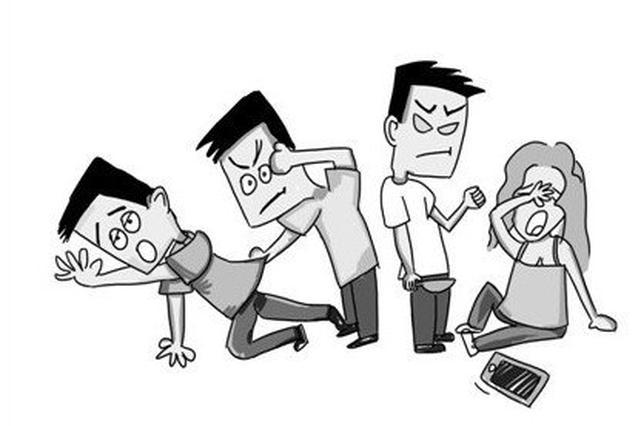 已婚男女同学会后发生暧昧 被女同学老公当街暴打