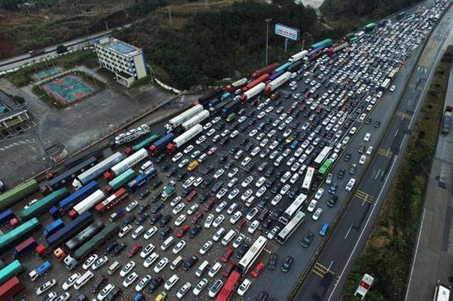 我省适时启动公路分流 收费口拥堵超千米免费放行