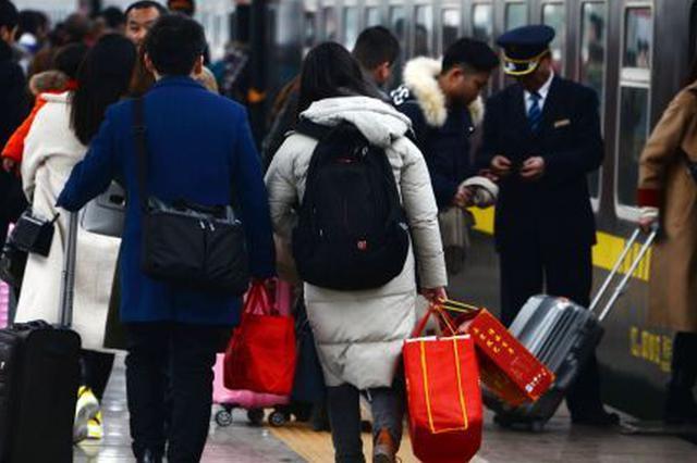 年初三 亳州火车站返程旅客增加