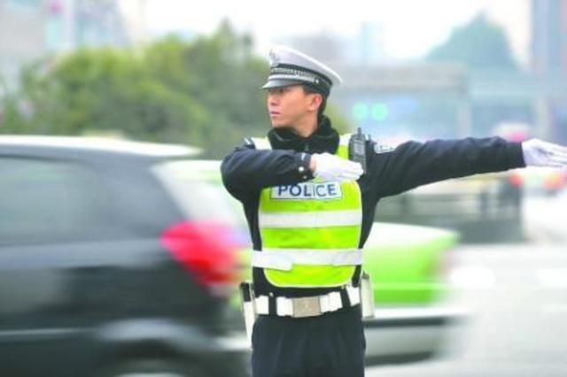 淮北市交警圆满完成春节安保工作