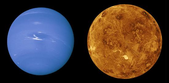 海王星与金星
