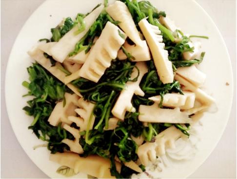 素食养生:荠菜春笋