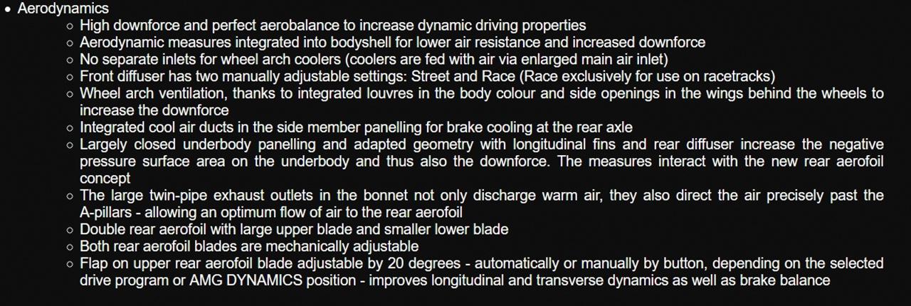 AMG GT 黑系列 空气动力学改进
