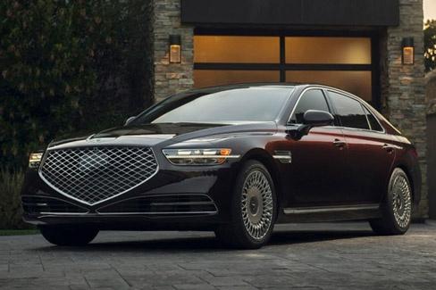 新车|两种动力/外观豪华 实拍捷尼赛思全新G90
