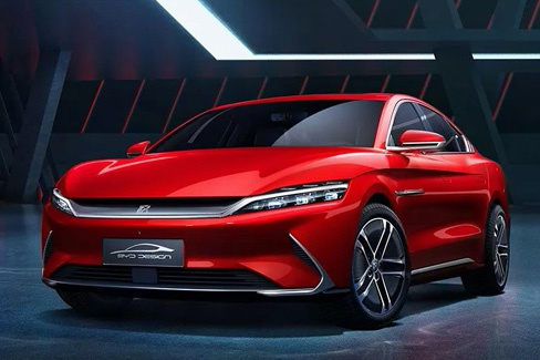 新车|比亚迪汉官图发布 3.9S破百/6月上市
