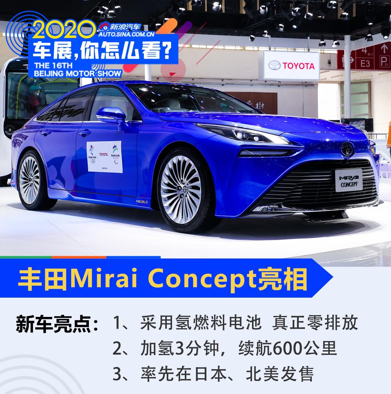 2020北京车展 电动化进程加速 丰田携多款电动化车型亮相