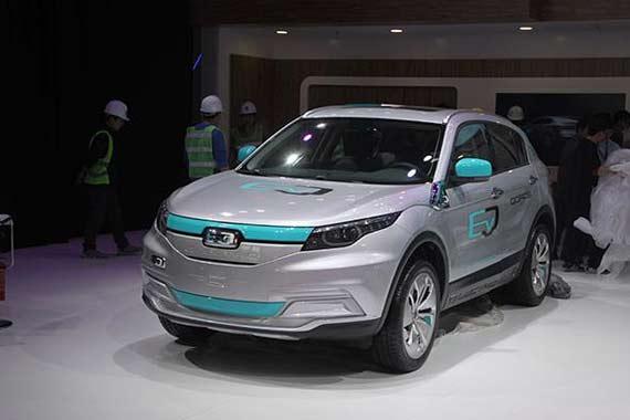 2016北京车展观致5 EV正式发布