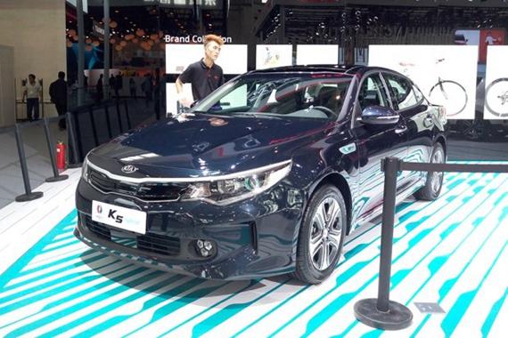 2016北京车展起亚K5混动版国内首发