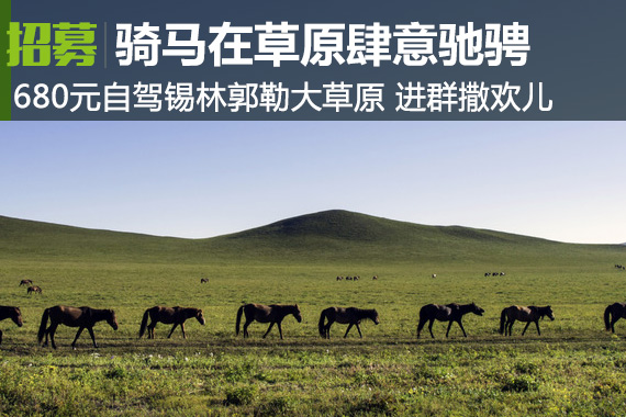 超值特惠:680元自驾内蒙锡林郭勒大草原